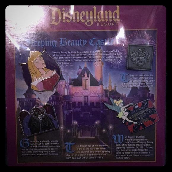"Disneyland ""Sleeping Beauty Castle pin set """